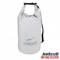 AMSCUD BAG DRY PACK 20L W/LINE -  WHITE