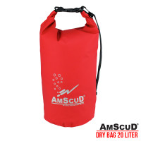 AMSCUD BAG DRY PACK 20L W/ LINE - RED