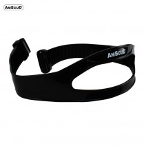 MASK STRAP BLACK/CLEAR SILTEX AMSCUD - 22MM