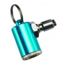TIRE INFLATOR WITH KEY CHAIN SILVER