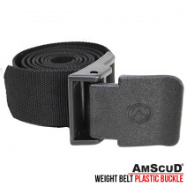 WEIGHT BELT + BUCKLE PLASTIC AMSCUD