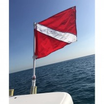 DIVING CENTER BOAT FLAG RD-WH