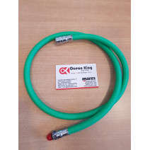 LP HOSE BRAIDED FLEX 100CM AMSCUD - GREEN