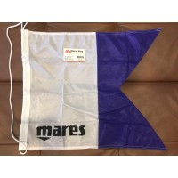DIVING CENTER BOAT FLAG BL-WH