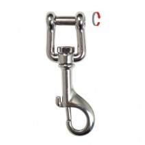 SCUBA HIGHLAND 3.4 SS SHACKLE BOLT SNAP