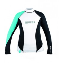 RASHGUARD MARES LONG SLEEVE LOOSE FIT - AQUA