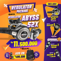DEAL PACKAGE REGULATOR MARES ABYSS 52X ( INCLUDED OCTOPUS + SPG )
