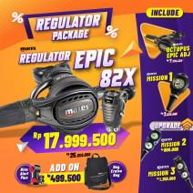 DEAL PACKAGE REGULATOR EPIC 82X (INCLUDE OCTOPUS + PRESSURE GAUGE )