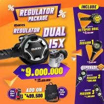 DEAL PACKAGE REGULATOR MARES DUAL 15X ( INCLUDE OCTOPUS + SPG  )