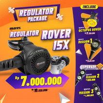 DEAL PACKAGE REGULATOR MARES ROVER 15X ( INCLUDE OCTOPUS + SPG )
