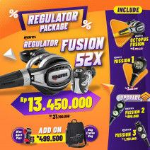 DEAL PACKAGE REGULATOR MARES FUSION 52X ( INCLUDED OCTOPUS + SPG )