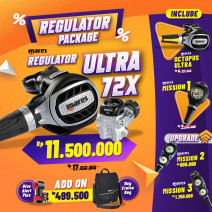 DEAL PACKAGE REGULATOR MARES ULTRA 72X ( INCLUDE OCTOPUS + SPG  )
