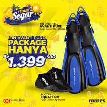 PACKAGE FIN AVANTI PURE + BOOTIES EQUATOR