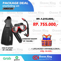 AMSCUD PACKAGE DEAL SNORKELING SET