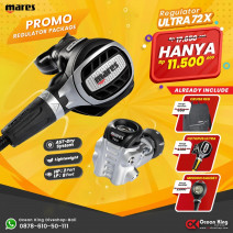 DEAL PACKAGE REGULATOR MARES ULTRA 72X ( INCLUDED OCTOPUS + SPG + REGULATOR BAG )