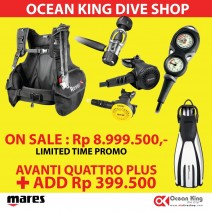 PROMO PACKAGE BCD & REGULATOR SET + FIN OH MARES AVANTI QUATTRO PLUS